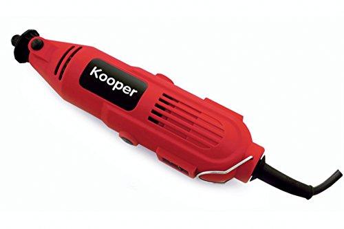 Kooper 2170819 frees-/mini-boormachine met 40 accessoires, 135 W, rood/zwart