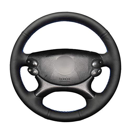 ZYTB Für handgemachte schwarz pu lenkradabdeckung für Mercedes Benz e-klasse w211 e230 e280 e350 CLS-klasse cls350 cls500,Gray