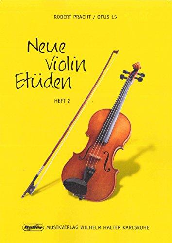 Robert Pracht: Neue Violin-Etüden op.15 Band 2 - 36 schwierigere Etüden in der 1. Lage und 7 leichte Doppelgriff-Etüden (Noten)