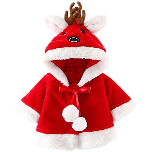 AnKoee - Abrigo para bebé, diseño animado de piel sintética rojo Talla...