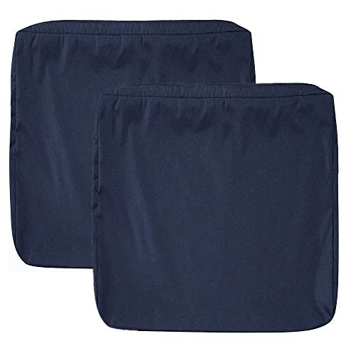 "Sqodok Patio Cushion Covers 24""X24"", 4 Pack Seat Cushion Cover Indoor Outdoor Replacement Furniture Chair Pads Cover Washable Cushion Pillow Seat Covers, Dark Navy Blue"