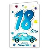 Age MV 69–2018tarjeta cumpleaños 18años niño joven hombre adulto diseño mayoría mayor B conducir coche