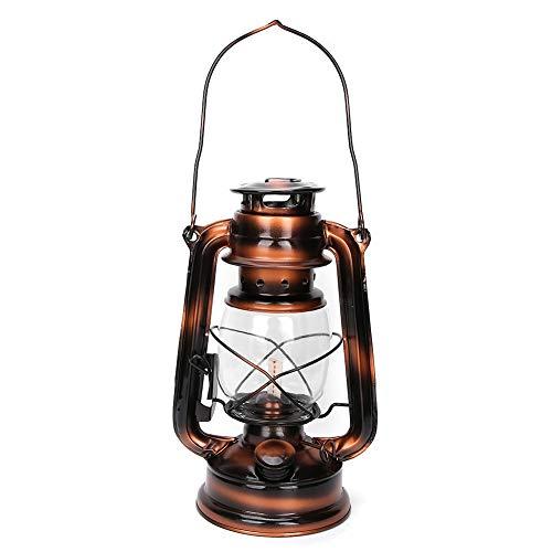 Fydun Luces de Queroseno, Linterna de Hierro de Estilo Vintage, Adorno de lámpara de Queroseno para el jardín del hogar, Patio, Patio, decoración al Aire Libre