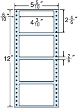 "Oriental Print Tuck Foam Labels 5 5/10"" x 12"" with 4 Sides (1 Case 1000 Folds)"