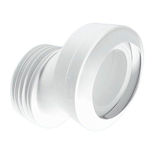 McAlpine mac-4a 40mm gekröpft macfit WC Anschluss–weiß