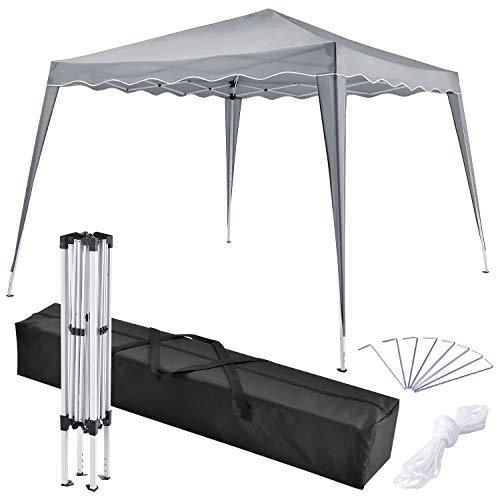 ArtLife Pavillon Vivara 3x3 m inkl. Tasche wasserabweisend höhenverstellbar faltbar grau Pop-up Faltpavillon Gartenzelt Partyzelt