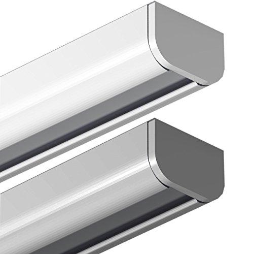Garduna 300cm Gardinenschiene | Weiss | Aluminium | patentierte Befestigung | halbrunde Schleuderschiene