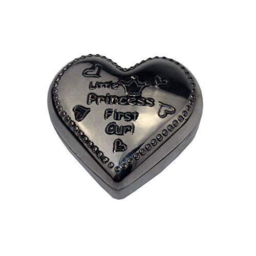 Vintage Jewellery Gift Box Creative Metal Jewelry Box Gift Box Zinc Alloy Heart Shaped art Decoration Retro Collector (Color : Silver, Size : 5.3x5.3x2.7cm)