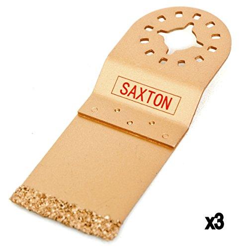 SH35EC Saxton 35 mm Hartmetall-Endschneide klinge Sägeblätter Klingen Multitool Oszillierwerkzeug-Zubehör (Packung mit 3)