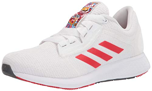 adidas womens Edge Lux 4 Running Shoes, White/Red/Silver Metallic, 10 US