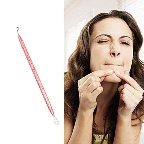 Point Noirs Extracteur Blackhead Remover Kits Pimple Outils Soin du visage Outil Acier inoxydable Pimple Spot Pimple d