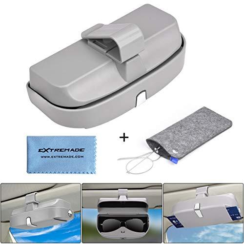 Extremade Brillenhalter Auto,brillenhalterung Auto,Brillenbox, magnetischer Brillenhalter,brillenablage fürs Auto, Brillen ablage:Brillen Halter Auto für Karte Ausweis Münze