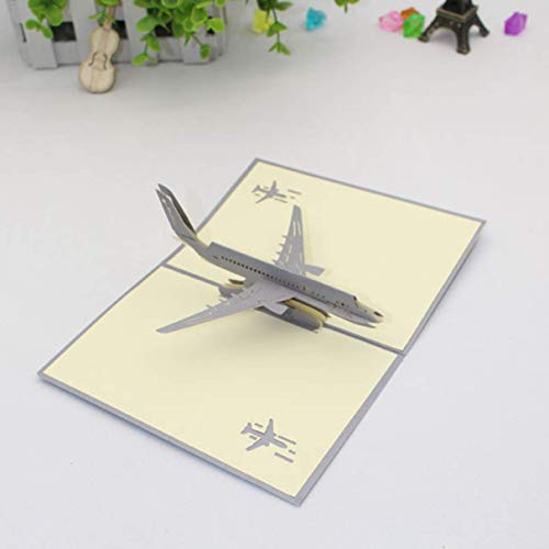 guantongda Nieuwste 1 st 3D Pop Up Vliegtuig Model Wenskaarten Verjaardag Bruiloft Party Uitnodiging in fijne stijl