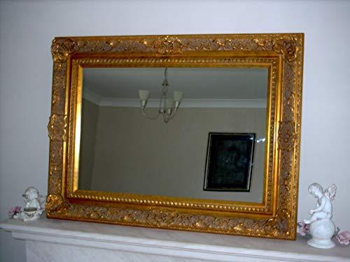 Magnífico espejo de pared dorado Elizabethan estilo muy decorativo completo con cristal de Pilkington de alta calidad – Tamaño grande 102 cm x 77 cm con gran marco de 5 pulgadas – ITV Show Supplier – el mejor precio en AMAZON – sólo disponible de Shabby Chic espejos