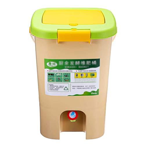 El compost papelera de reciclaje compostador de compost aireado Bin orgánico hecho en casa bote de basura del cubo del jardín de cocina Comida Casera Papeleras 21L ( tamaño : 28.5*28.5*42cm )