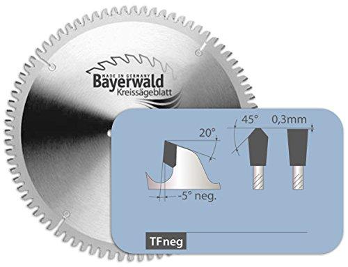 Bayerwald - HM Kreissägeblatt - Ø 420 mm x 4 mm x 40 mm | Trapezflachzahn negativ (96 Zähne) | Nebenlöcher: 2/15/80 + 4/12/64 + Eisele | Alukreissägeblatt für NE-Metall & Kunststoff