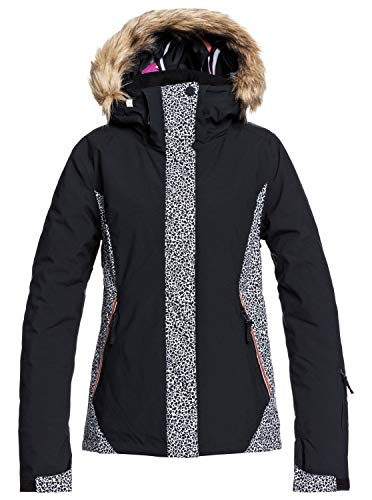 Roxy Jet Ski-Veste de Snow pour Femme, True Black Pop Animal