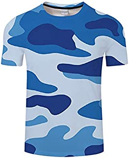 HPXCAZ Newest 3D Printed T-Shirt Ink Draw Pattern Short Sleeve Summer Casual Tops Tees Fashion O-Neck Tshirt Male (Color : T716, Size : XXS)