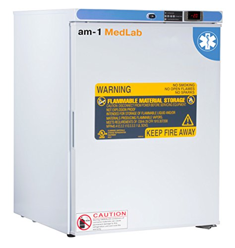 am-1 AM-LAB-FS-FSP-05 MedLab Premium Flammable Storage 5 cu. ft. Laboratory Freezer, White
