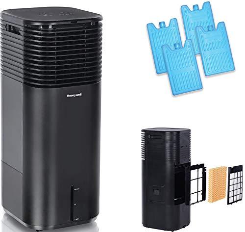 Honeywell 500 CFM Indoor Evaporative Tower Cooler with Fan, Black