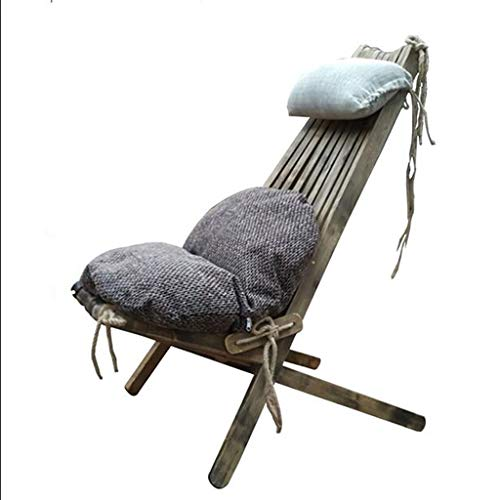SMBYLL Chaise Pliante d'extérieur avec Coussin de Dossier pour Balcon intérieur, Production de Bois Massif Chaise Pliante (Color : A)