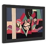 Printed Paintings Marco Americano (55x40cm): Patrick Henry Bruce - Objetos sobre una Mesa