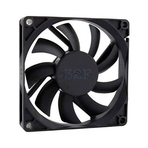 32F Ventilador 80 mm 80 x 80 x 15 2500 rpm 24 V 0,16 A DC Air Fan 8 cm 80 mm 3 hilos 3 pines con sensor tacómetro Refrigeración 80 x 80 x 15