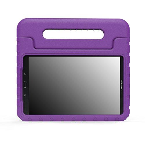MoKo Galaxy Tab A 10.1 Case - Custodia Protettiva Antiurto con Supporto per Bambini per Samsung Galaxy Tab A 10.1' 2016 (SM-T580 / SM-T585, No Pen Version), Viola