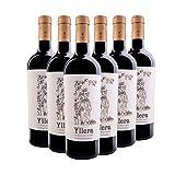 Yllera | Vino Tinto Crianza Yllera 24 Meses Vendimia Seleccionada | Pack de 6 uds | Tempranillo | 75 cl | de la Tierra Castilla y León | Aroma a Frutas Maduras | Aterciopelado | Vino Español