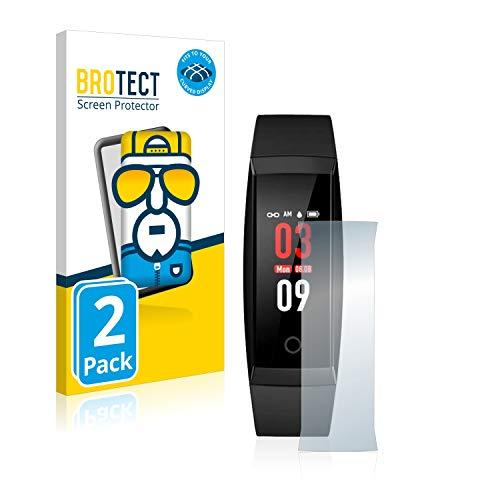 BROTECT Full-Cover Schutzfolie kompatibel mit Jazipo W8 (2 Stück) - Full-Screen Displayschutz-Folie, 3D Curved, Kristall-Klar