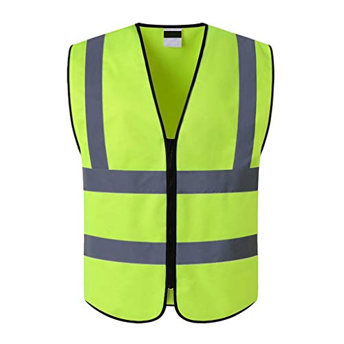 Construction Site Safety Vesten Werkkleding Bouwvakker Horse Clip Multifunctionele Thermische isolatie Sanitation Cleaning Garden reflecterende vesten XMJ (Color : Fluorescent yellow)