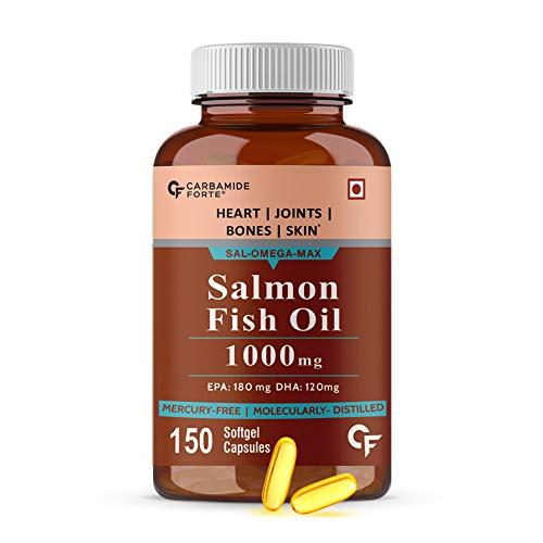 Carbamide Forte Salmon omega 3 fish oil 1000 mg EPA 180mg and DHA 120 mg-150 Softgels