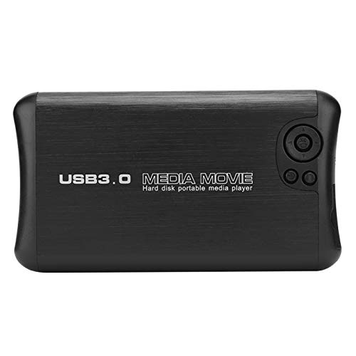 1080P HD Audio Video Player Mini HD Player Lector SD/SDHC para TV AV doméstica(European regulations)