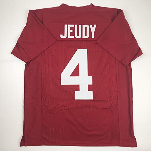 Unsigned Jerry Jeudy Alabama Crimson College Custom Stitched Football Jersey Size Men's XL New No Brands/Logos