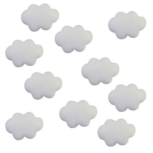 Milopon Bijoux Accessoires en Résine Nuage Délicat Décorations Pour Fabrication de Bijoux DIY Collier Cas de Téléphone 10pcs (Blanc)