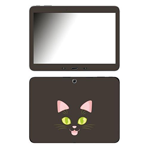 'Disagu SF 105859_ 1011Designer Skin Case Cover For Samsung Galaxy Tab 4–Dark Cat Face Clear