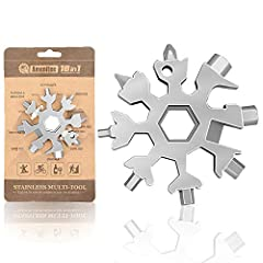 """MULTI-TOOL: Saker 18-in-1 Snowflake Multi-Tool contains incredible 18 tools. SMALL SIZE: Saker 18-in-1 Snowflake Multi-Tool only 2.3 ounces and just over 2 """" diameter, unique snowflake-shaped design, easy to carry. APPLICATION: Saker 18-in-1 Snowflak..."""