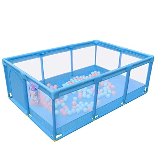 Clôture pour Enfants Indoor Home Baby Game Guardrail Baby Safety Toddler Crawling Mat Fence (Couleur: Bleu), Rose (Couleur: Bleu)