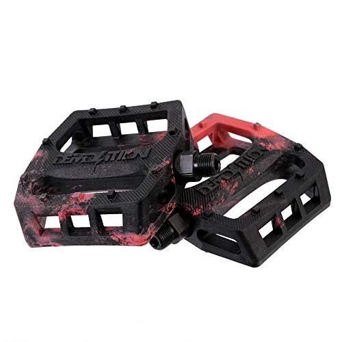 Demolition Pédales en nylon pour BMX Trooper Noir/Rouge