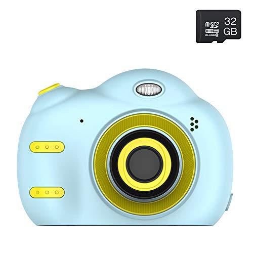 Aumesovi 子供用デジタルカメラ トイカメラ 子供用カメラ 1800万画像 2.4インチ 自撮り 多機能 子供プレゼント 32GB容量SDカード 日本語説明書付き(ブルー)