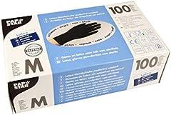 Papstar 10015 guante de seguridad Negro Latex 100 pieza(s) - Guantes de seguridad (Negro, Latex, M, SML, 100 pieza(s), 100 pieza(s))
