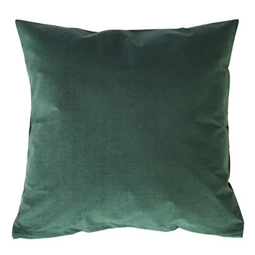 Hans-Textil-Shop kussensloop Uni Olive donkergroen (deco, sofa, sierkussen, kussenhoes)