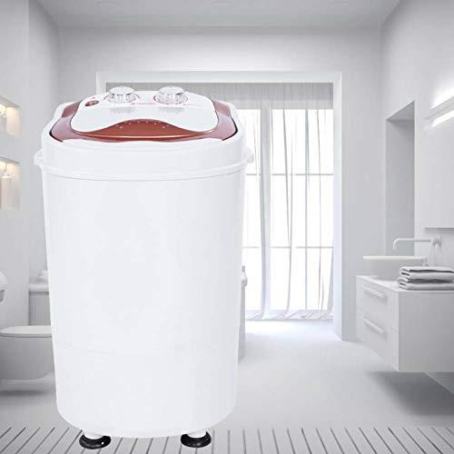 EBTOOLS Lavatrice Portatile, Mini-Lavatrice,con Funzione di Rotazione,con Centrifuga da Campeggio, Camper, Studenti, capacità 3 kg 34 * 34 * 52cm Bianco