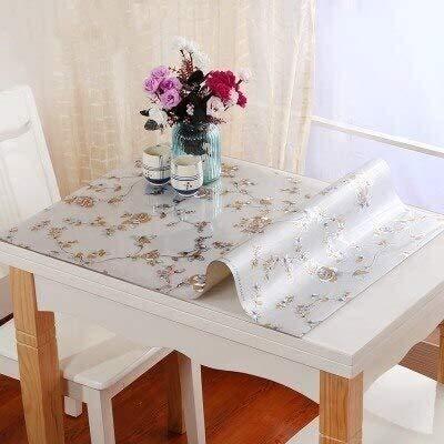 BECCYYLY Mantel Tabla de Tela Impermeable a Prueba de Aceite de Cocina Comedor Mantel Pad for el Banquete de Boda Textiles for el hogar Decoración 80x140cm Mantel de Vidrio Blando