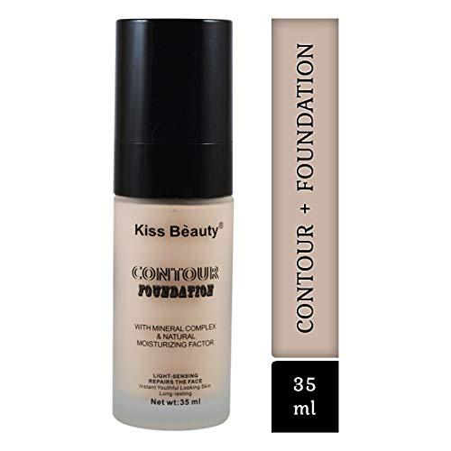 Kiss Beauty Contour Foundation+ Primer-58306AB Assored Shade With Adbeni Kajal...