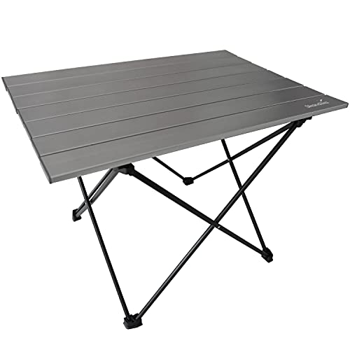 Skandika Ruka S/M Camping Tisch klein   Campingtisch aus Aluminium, klappbar, sehr leicht, einfacher Aufbau, Stabiler Stand   Klapptisch für Campen, Zelte, Wandern, Reisen, Zuhause, Garten (Ruka M)