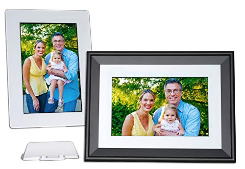 PhotoSpring 10 Premium - 10 inch WiFi Digital Picture Frame, Battery, Touchscreen, Photo, Video, Send by Email - App - Website