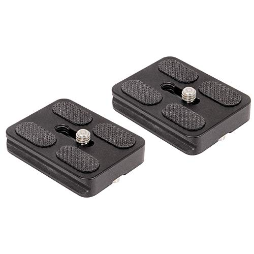 Fltaheroo Set Of 2 Replacement Quick Release Plates For The Mefoto A1350Q1W Roadtrip Travel Tripod Kit