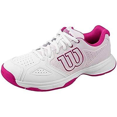 Wilson KAOS STROKE W, Zapatillas tenis mujer, todos los niveles y terrenos, , tejido/sintético, blanco/rosa (White/Halogen Blue/Very Berry), talla:36 1/3
