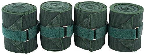 Harry's Horse Bandages elastisch/Fleece 4 st, Farbe:Olive
